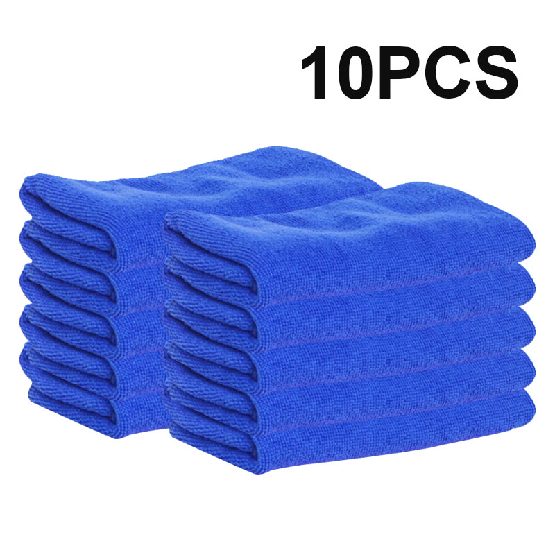 10pcs Car Washing Cloth Car Cleaning Cloth Super Soft Car Cleaning Towel Microfiber Cloth Towel Waxing Polishing Drying