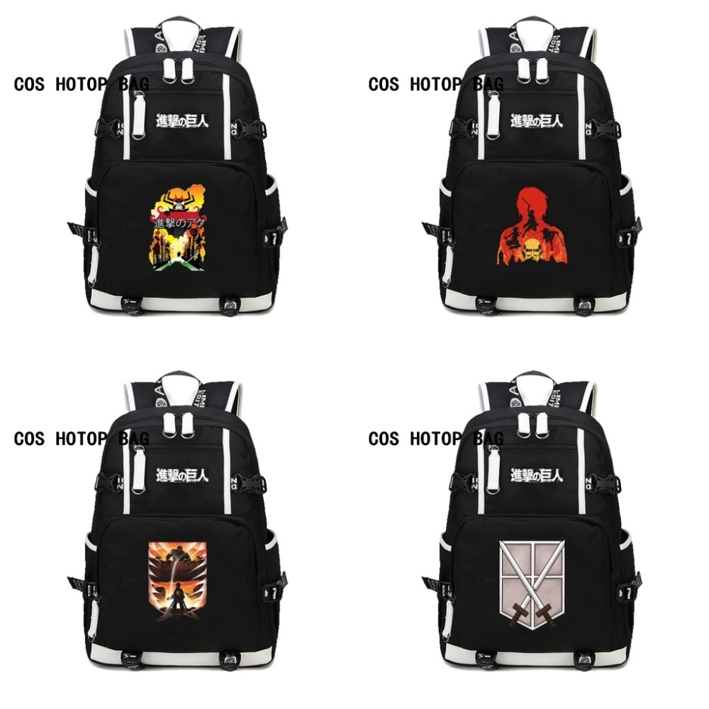 anime Attack On Titan Backpacks School Shoulders Bag Backpack Men Women Knapsack Travel Bag Shingeki No Kyojin backpack 17 style attack on titan freedom wings emblem printing korean japanese style school backpack anime backpacks ab197