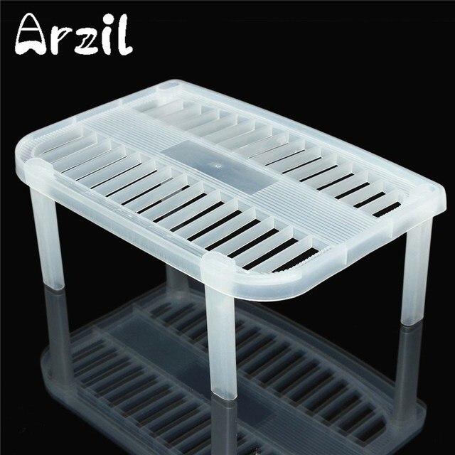 Plastic Bowl Plate Dishes Storage Rack Kitchen Organizer White  Multifunction Kitchen Shelf Organizers For Kitchen Storage