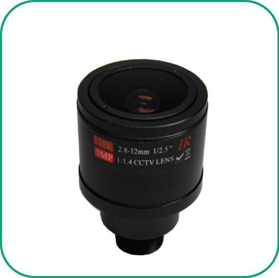 3.0 Megapixel fixed iris CCTV lens for HD camera 2.8-12mm Manual Focus Zoom MTV Lens For security camera