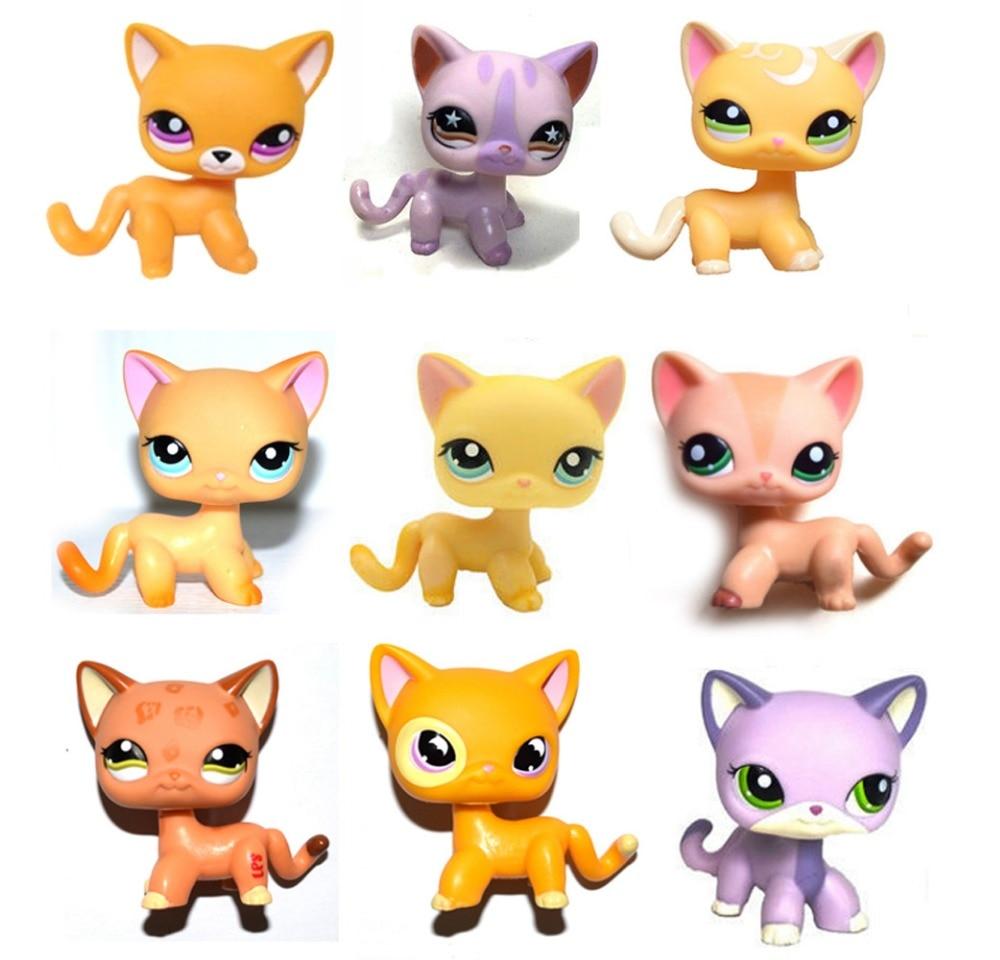 Littlest Pet Shop Toys Hobbies Littlest Pet Shop Toys Lps Cat Yellow Short Hair Cat Little Kitty 855 Girls Toy