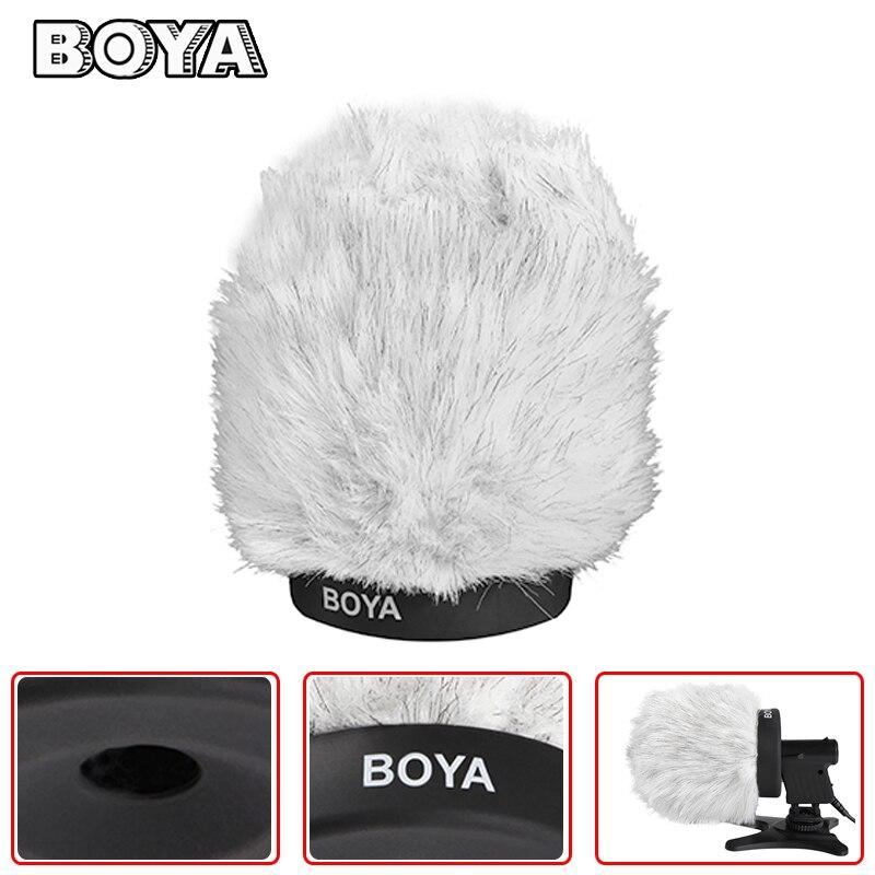 BOYA BY-P120 120mm En Plein Air Entrevue Microphone Fourrure Pare-Brise Manchon pour Sony Sennheiser Zoom SGH-6 Panasonic Micro Accessoires