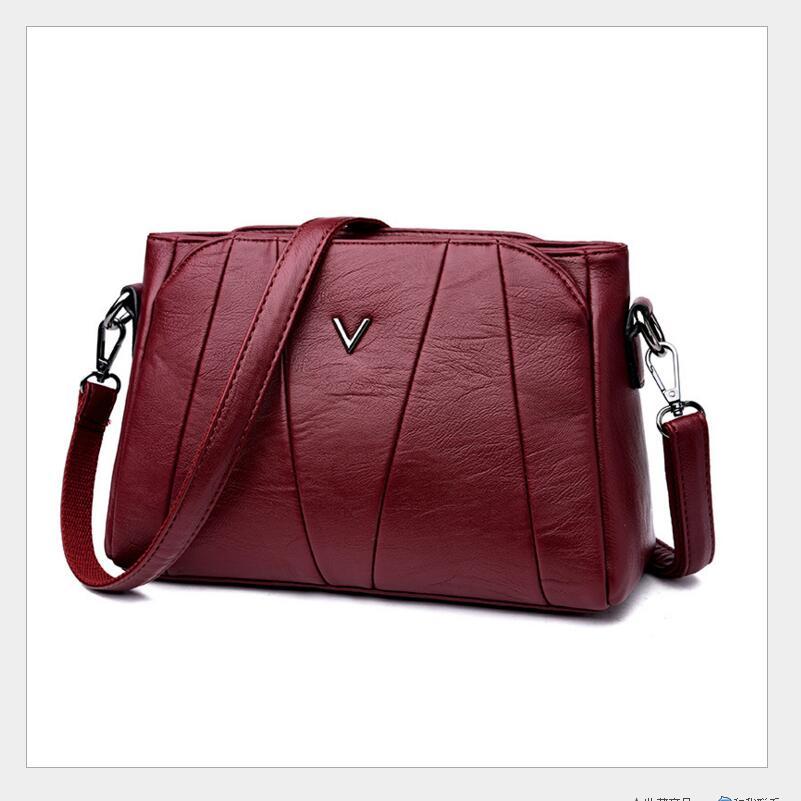 European autumn winter fashion design women s women s single shoulder bag classic pure color slant