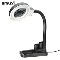 1 Pcs Smuxi Table Lamp 40 LED Light Magnifying Glass Lens Desk Lamps With 5X 10X