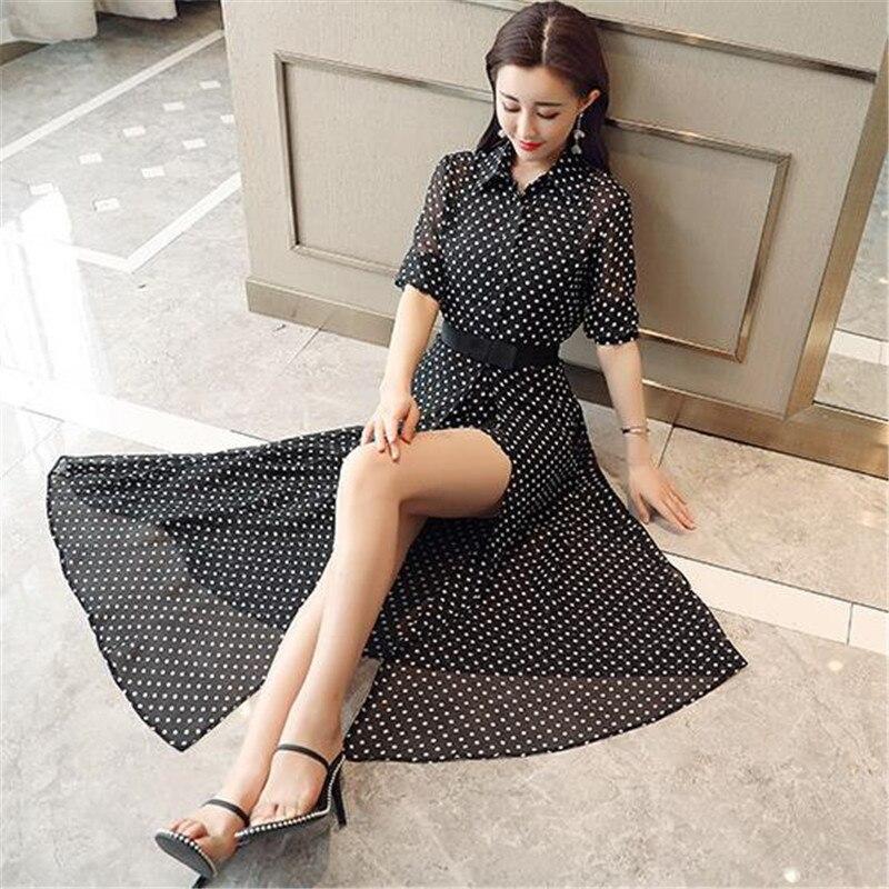 New Wave Asymmetrical Office Work 2018 Summer Chiffon Suits Fashion Loose Playsuits+ Split Skirt De Festa Chic Longo Sets CM2845 4