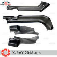 Door sill trim carpet for Lada X-Ray 2016- inner sill step plate trim protection carpet accessories car styling decoration