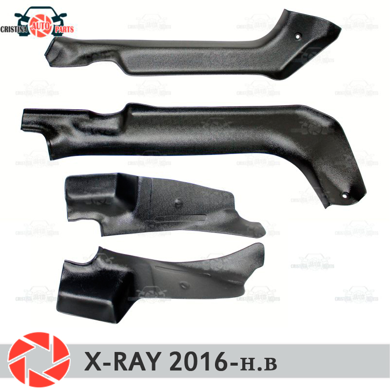 Door sill trim carpet for Lada X-Ray 2016- inner sill step plate trim protection carpet accessories car styling decoration александрова н н завещание короля балдуина ожерелье богини кали романы