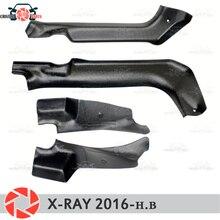 Отделка ковра порога для Lada X-Ray 2016-Внутренний порог шаг пластины отделка защита аксессуары с покрытием автомобиля Стайлинг украшения