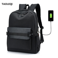 TAOLEQI New Arrivals Men USB Charge Laptop Backpack Large Capacity Casual Style Bag Women School Bag