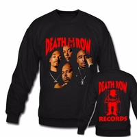 Death Row Records Unisex Men Women Hoodies Sweatshirts Rock Band Tupac Dre Poster Both Front And