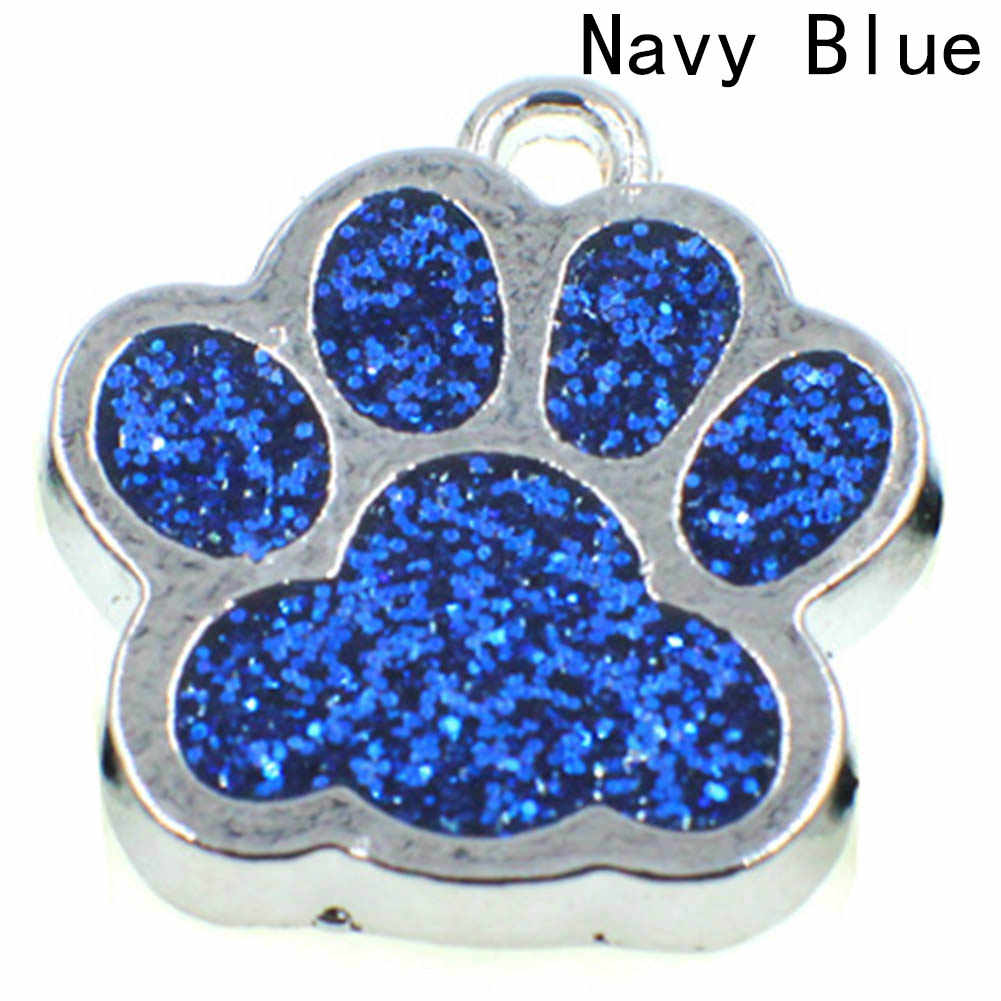 Lovely  Crystal Animal Pet Memorial Pendant  Cat Dog Puppy Paw Print  Pendant Necklace Rhinestonedrop Shipping