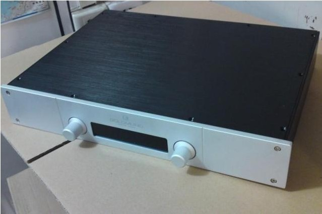 GAOWEN-G All Aluminum Enclosure Preamplifier Chassis DIY Pre-Amp Case Amplifier Box 430MM*70MM*308MM