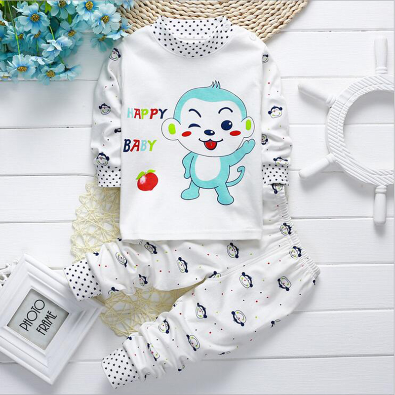 Newborn Infant Baby Girl Boy Kid Cotton Long Sleeve Pullover Tops+Pants Warm Set