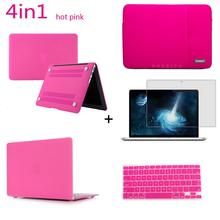 Notebook Bag Hard case Sleeve Bag keyboard cover Screen protector For Macbook Pro 11 13 Air Retina 12 Touch Bar 13 15 inch цена