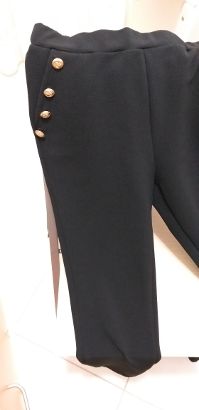 Black Office Lady Elegant Solid Pocket Button Detail High Waist Skinny Carrot Pants Autumn Fashion Workwear Women Trousers photo review
