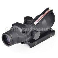 Tactical Red Dot Optics Riflescope ACOG 4X32 Real Fiber Source Scope 20mm For Hunting Airsoft Gun