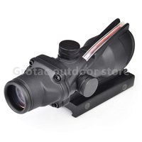 Tactical Red Dot Optics Riflescope ACOG 4X32 Real Fiber Source Scope 20mm For Hunting Airsoft Gun