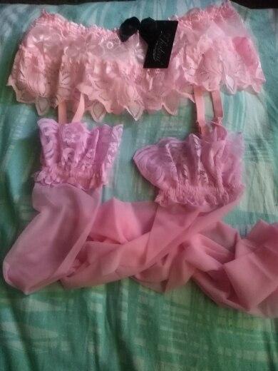 Дамы Sheer intimates Для женщин пикантные Модный Топ бедра-чулки и подвязки для чулок комплект бесплатная доставка и оптовая продажа