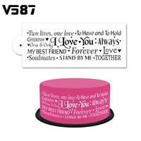 Wedding Romantic I Love You Cake Stencil Airbrush Painting Art Mold Cookies Fondant Molds DIY Baking Decorating Tools Bakeware