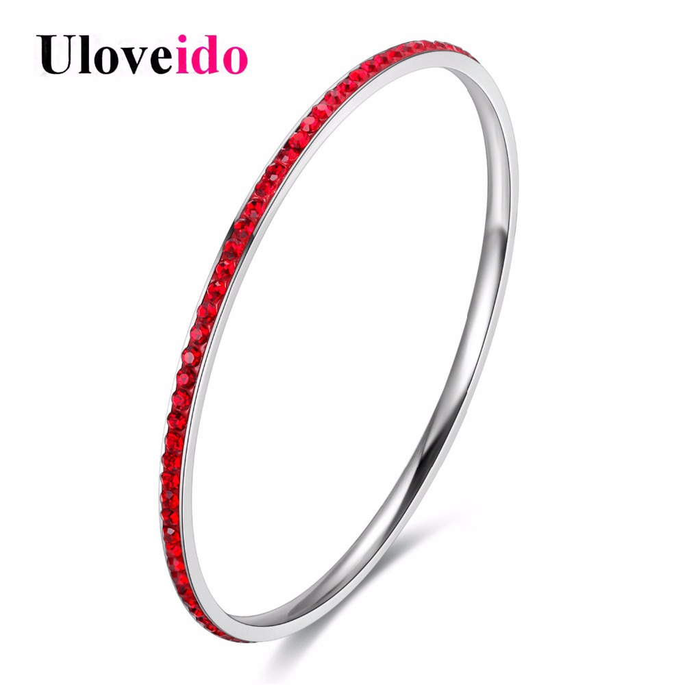 buy uloveido stainless steel designer bangles cubic zirconia jewelry bridal. Black Bedroom Furniture Sets. Home Design Ideas