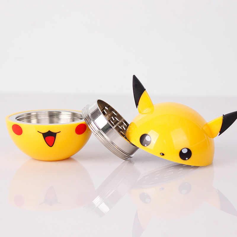 Nóng 3 Phần Pikachu Thảo Mộc Máy Xay Cỏ Dại Kim Loại Hợp Kim Kẽm Hút Thuốc Lào Máy Bào Cho Ống Nước Hookah Thả Tàu Pokemon đi Pokeball