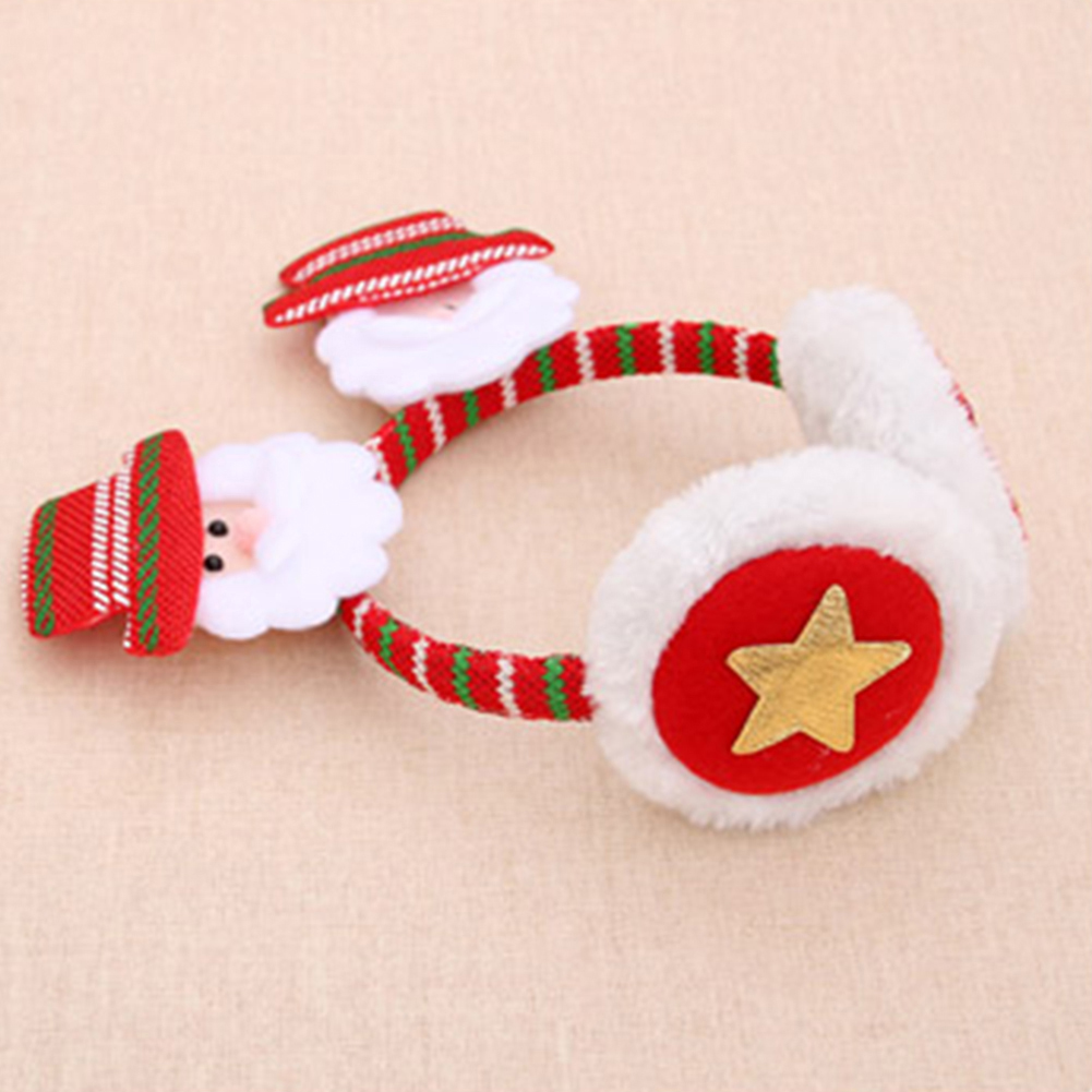 Christmas Santa Snowman Deer Bear Earmuffs Headband Ear Warmers for Kids Adults