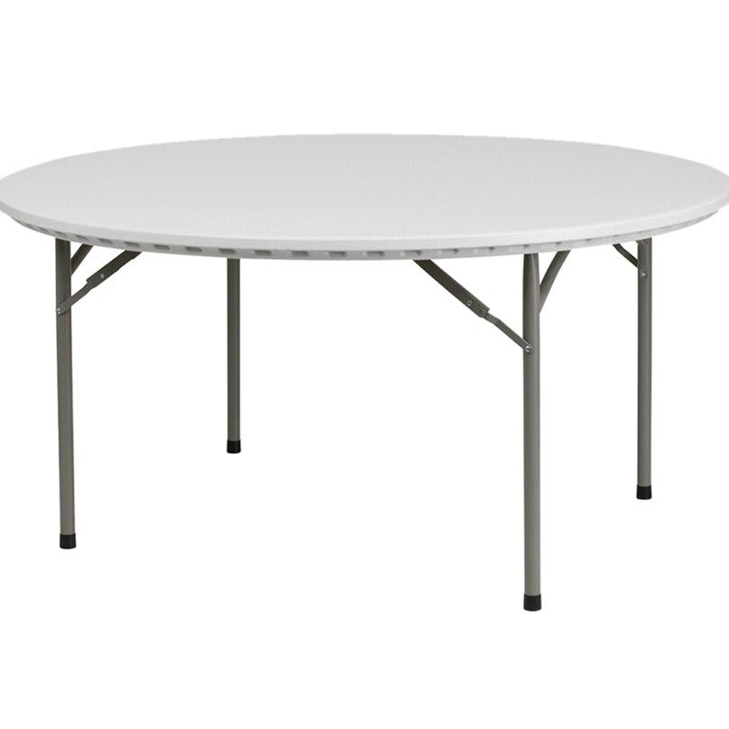 Flash Furniture 60'' Round Granite White Plastic Folding Table [863-RB-60R-GG] 60r