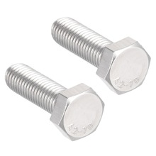 UXCELL 2Pcs M12 Thread 40mm Bolts 304 Stainless Steel Hex Head Left Hand Screw Fastener For Communication Equipment Bolt
