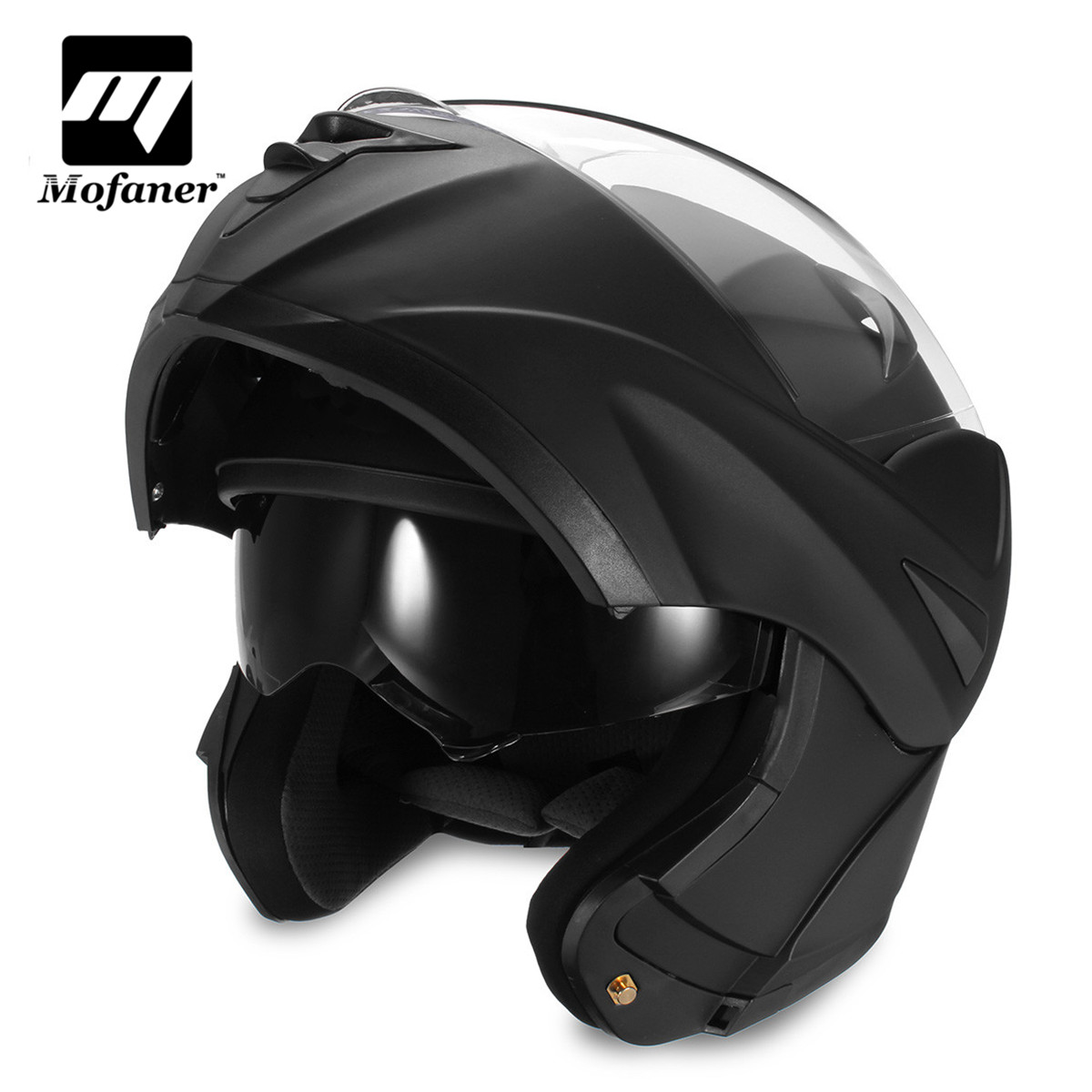 Mofaner Double Lens Dual Visor Motocross Motorcycle Modular Helmet Safety Full Face Open Motorbike Helmets 2017 new ece certification ls2 motocross motorcycle helmet ff352 full face motorbike helmets made of abs and pc silver decadent