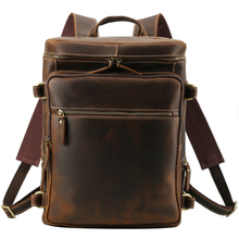 Backpack Men Cow Leather 16 Laptop File Business Casual Classic Notebook Travel Student  Big Backpacks Bags Mens