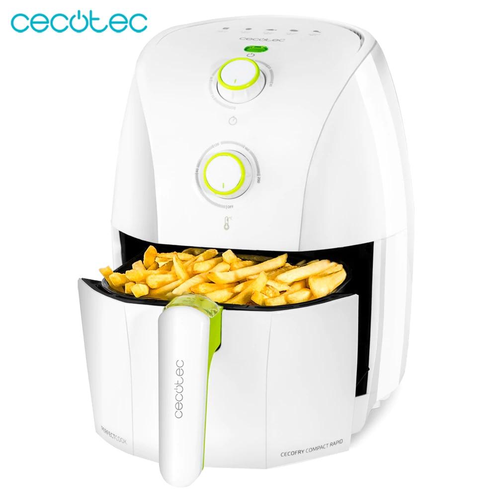 Cocotec cocofry compacta fritadeira dietética branca rápida sem capacidade de óleo de 1500ml e 900 w de energia comer mais saudável e saboroso