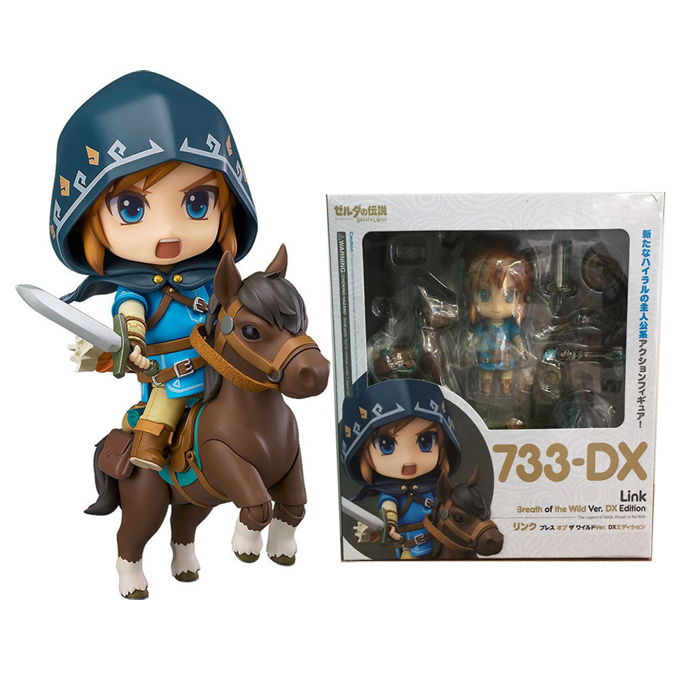 Nendoroid Legend of Zelda Breath of the wild Link 733 DX DX Edition Deluxe Version Action Collectible Model Figure Toys