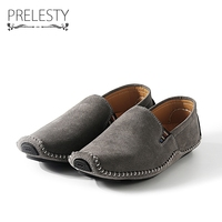 Prelesty Brand Winter Warm Men Real Suede Leather Casual Shoes Breathable Comfort Quality Men Non Slip
