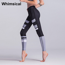 Whimsical Splicing Mesh Sport Leggings Yoga Pants Women Lady Fitness Trousers Workout Elasticity Pants High Waist Activewear