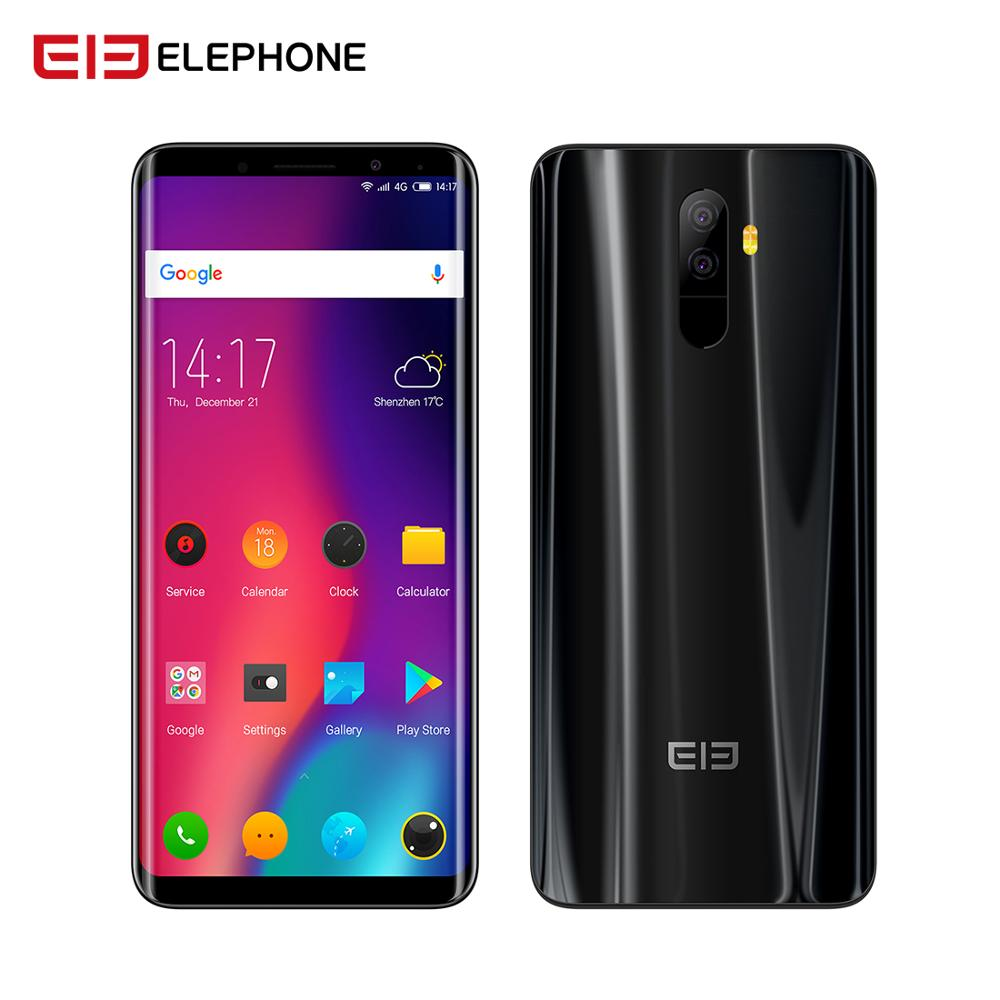 Elephone U Smartphone6GB+128G 5.99 18:9 Screen Android 7.1 MT6763 Octa Core Face ID 13MP dual back Camera 4G LTE Mobile phone