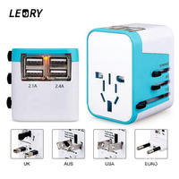 LEORY Universal International Plug Adapter 4 USB Port AU STATI UNITI REGNO UNITO Spina di UE All in One World Travel AC Power Charger Adaptor