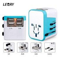 LEORY Universal International Plug Adapter 4 USB Port AU US UK EU Plug All In One