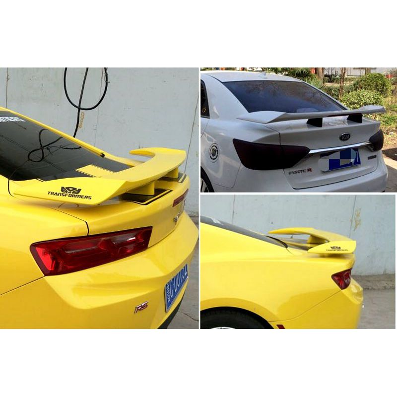 High Quality ABS Material Car Rear Wing Primer Rear Spoiler For Hyundai Vernauni versal Spoiler Rear Wing Spoiler With Led Light все цены