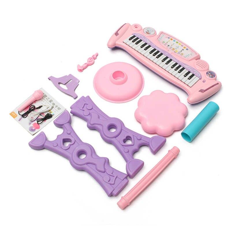 Rose 37 clés enfants clavier électronique Piano orgue jouet/Microphone musique jouer enfants jouet éducatif cadeau pour les enfants - 4