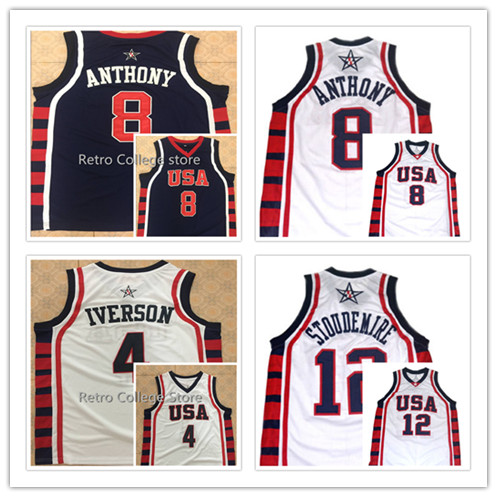 1285f5524 ... 15 Carmelo Anthony College Embroidered Throwback Basketball Jerseys  carmelo anthony basketball NCAA Syracuse ...