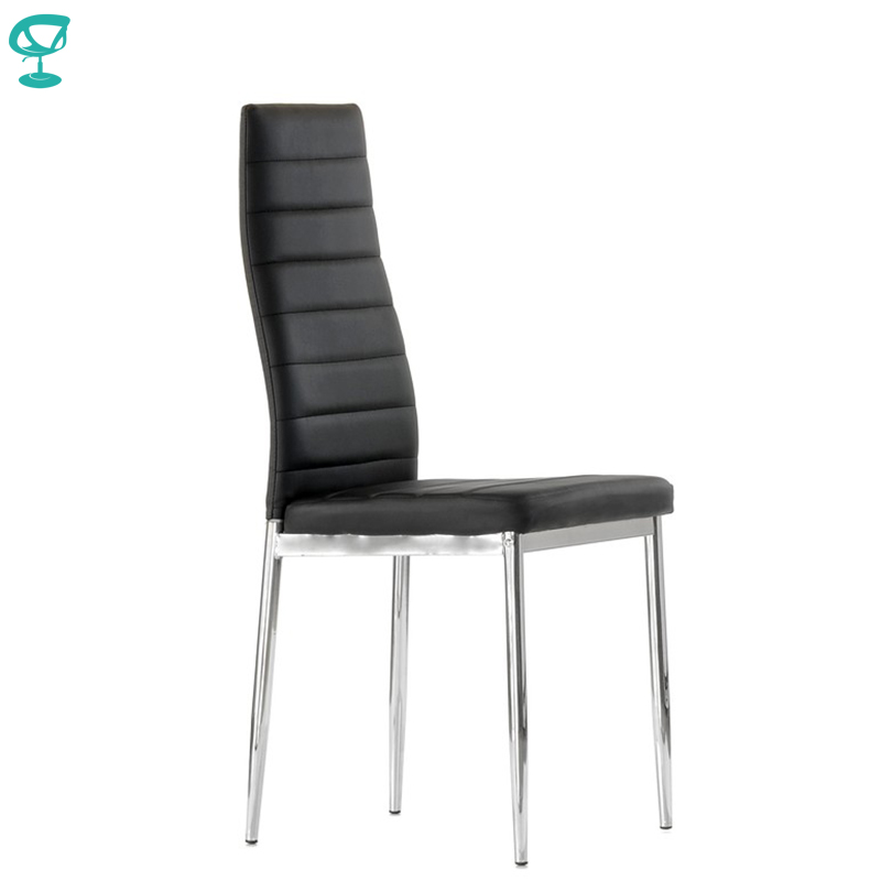 S1PUBlack Barneo S-1 Eco-leather Kitchen Furniture Interior Stool Chair For Dining Black Chrome Legs Free Shipping In Russia