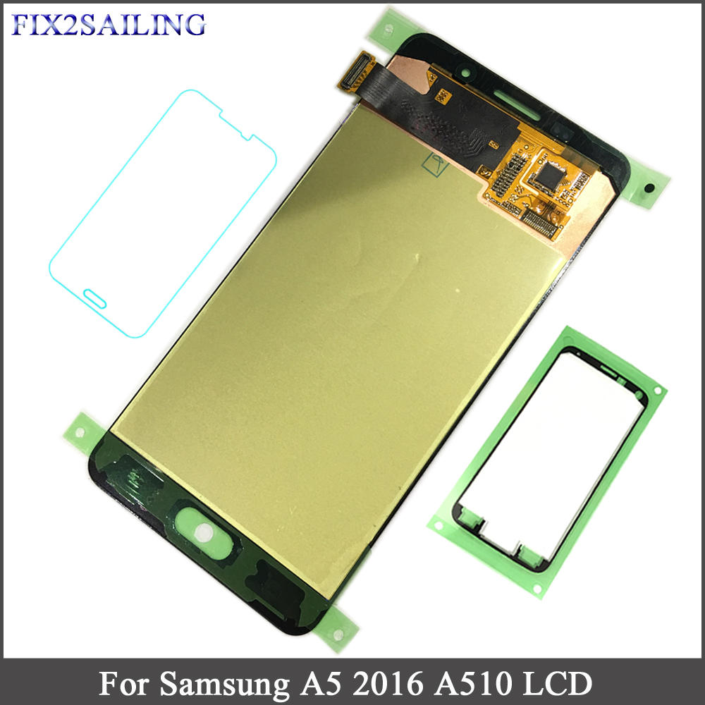 Super AMOLED LCD For Samsung A5 2016 A510 A510F A510M A510FD A5100 A510Y LCD Display Touch Screen Digitizer Assembly RepalcementSuper AMOLED LCD For Samsung A5 2016 A510 A510F A510M A510FD A5100 A510Y LCD Display Touch Screen Digitizer Assembly Repalcement