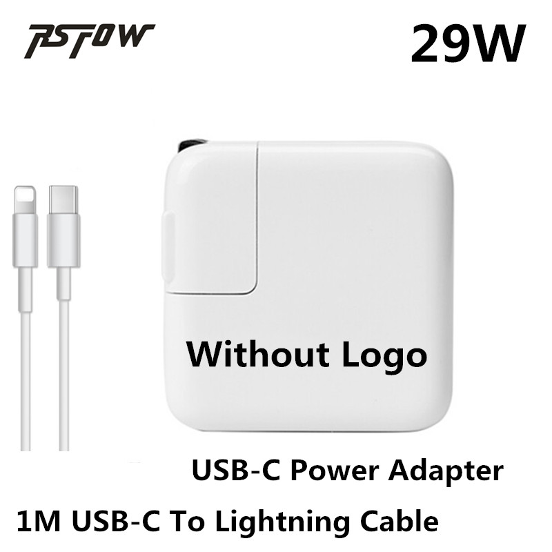 RsFow 29W USB-C Power Adapter Charger For Apple Macbook 12 Inch With 1M Charge Cable For Lightning Apple Iphone X 8 7 6 Plus цена и фото