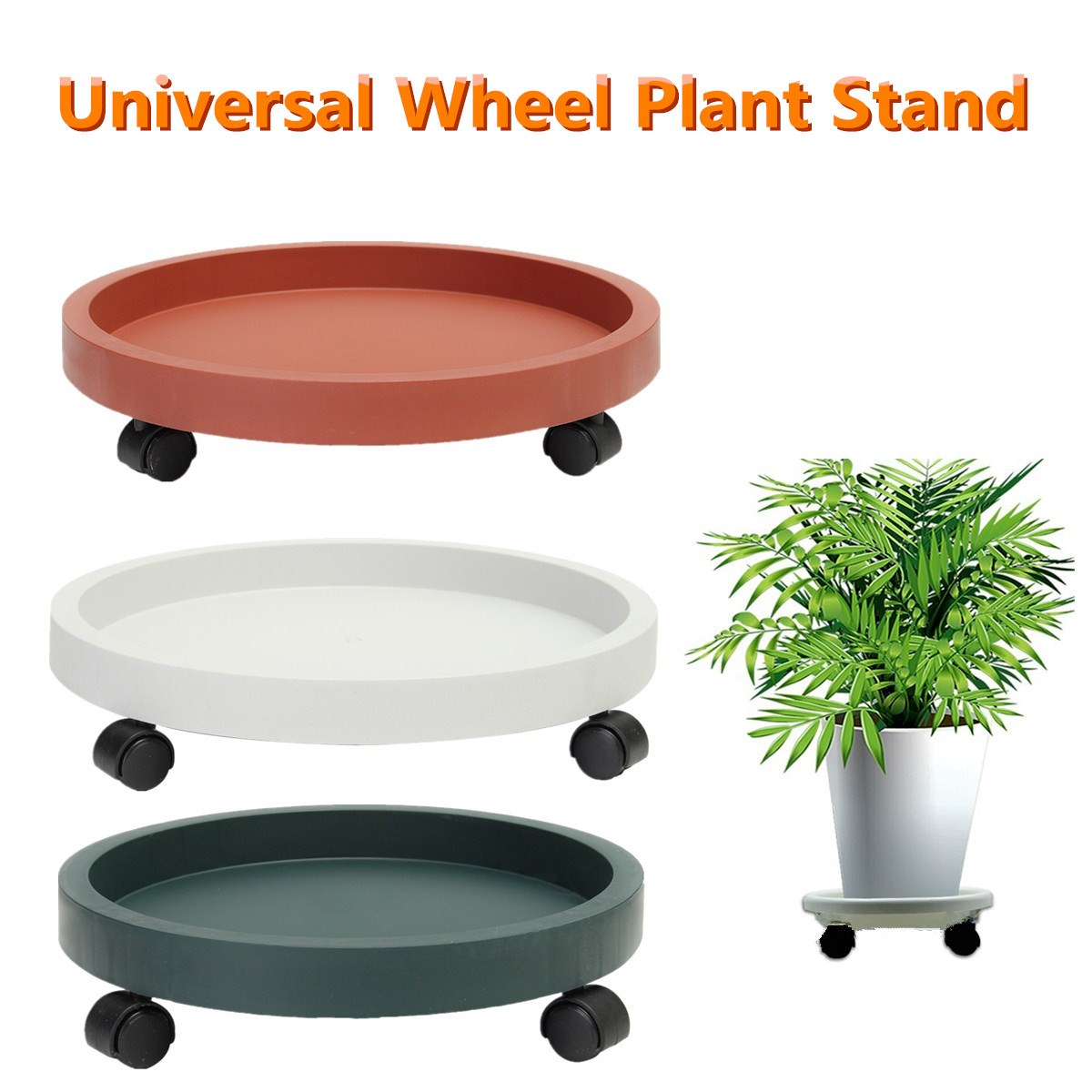 Plastic Universal Wheel Garden Plants Planter Dollies Plant Caddy