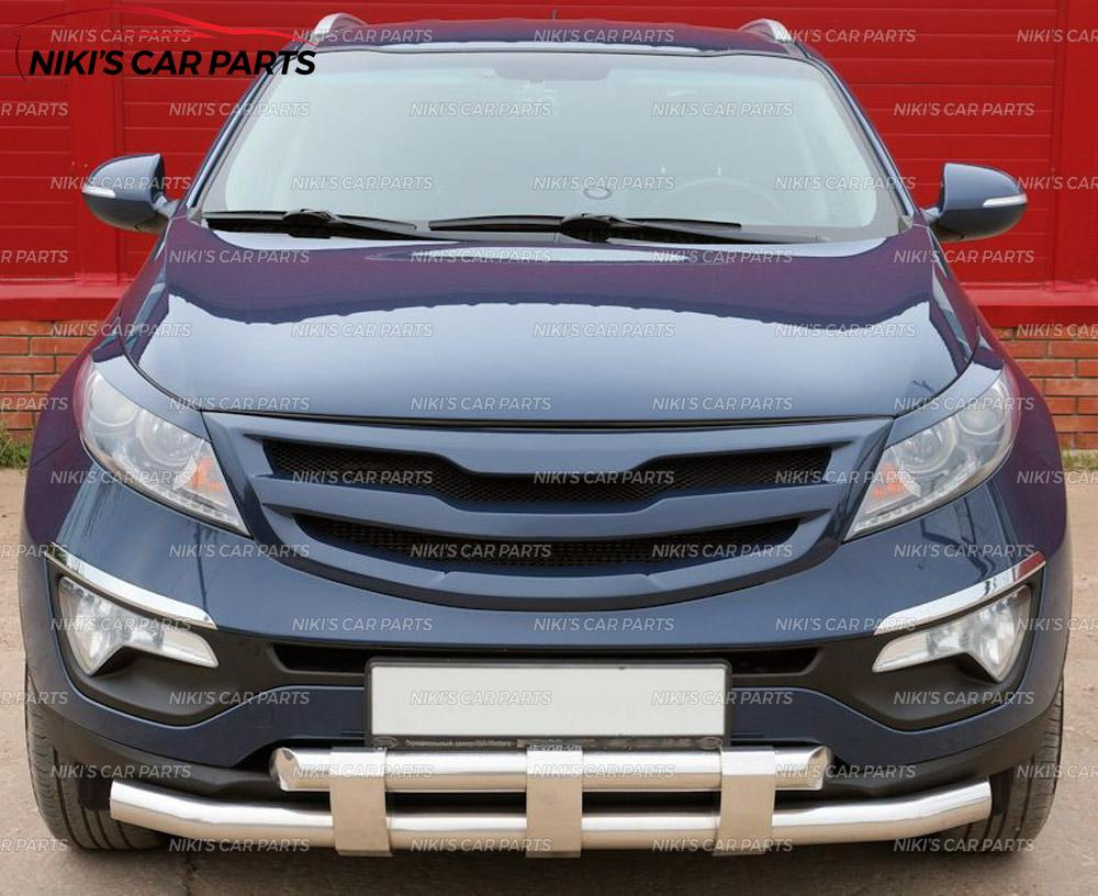 Tuning Front Radiator Hood Grille Unpainted For Kia Sportage 2010-2015
