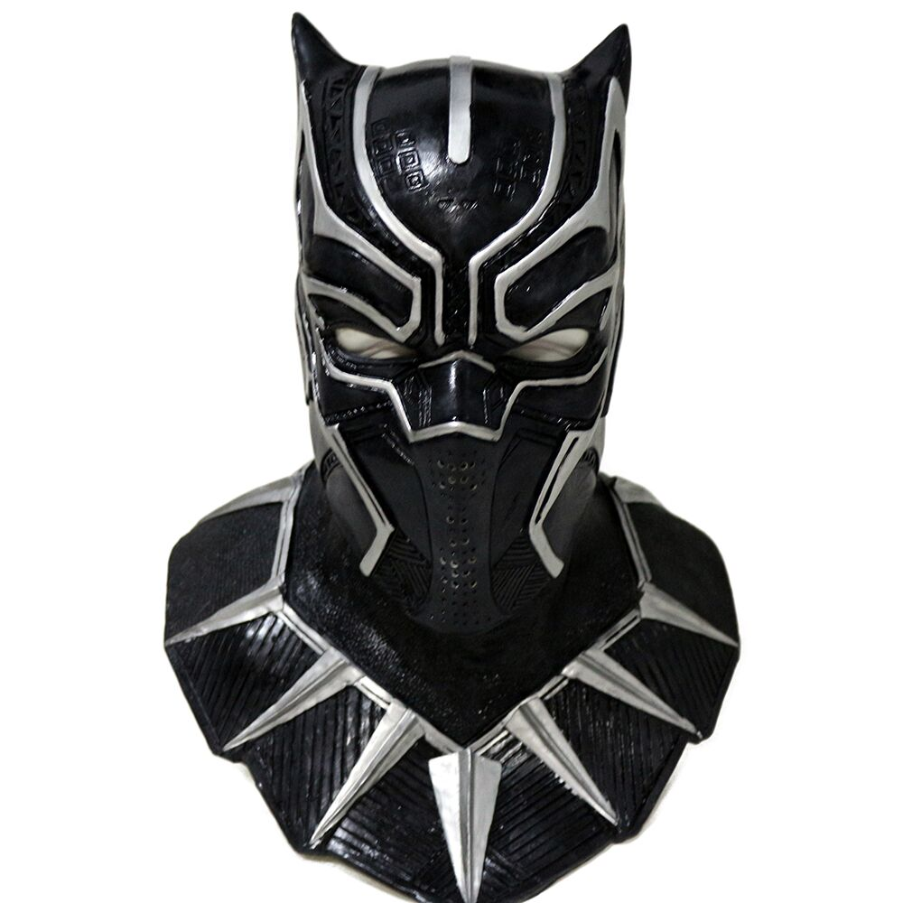 Black Panther Latex Mask Super Hero Marvel Hero Mask Halloween