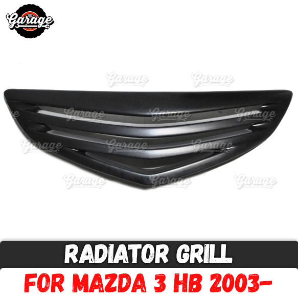 Radiator grille case for Mazda 3 HB 2003 2008 strips style ABS plastic accessories protective body