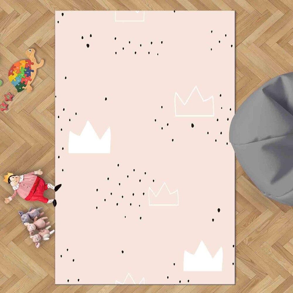 Else Pink Floor White Clouds Girls Black Hearts 3d Print Non Slip Microfiber Children Kids Room Decorative Area Rug Kids  Mat