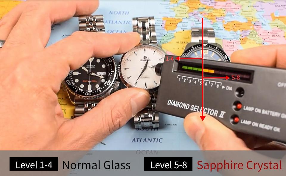 STARKING Mens Clock Automatic Mechanical Watch All Stainless Steel Simple Business Male Watch xfcs Luxury Brand Dress WristWatch