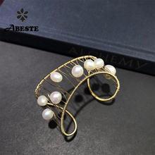 Женский золотистый жемчужный браслет ручной работы ani Ювелирное